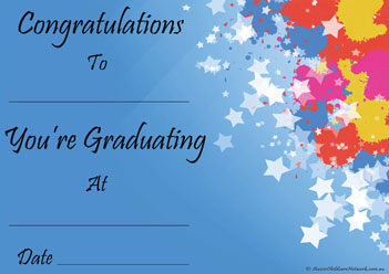 Graduating Star Preschool Certificate