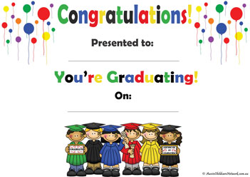 Graduation Kids Toddler Certificate