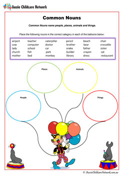 Common Nouns English Worksheet