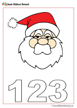 Santa Counting Worksheet