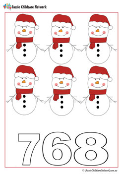 Counting Snowman Worksheet