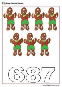 Gingerbread Number WOrksheets