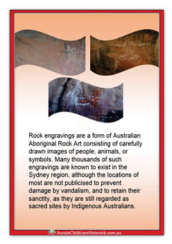Aboriginal Rock Carvings Poster