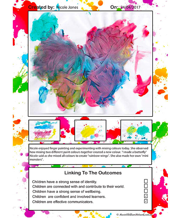 Art Display - Paint Splatter Template For Portfolios