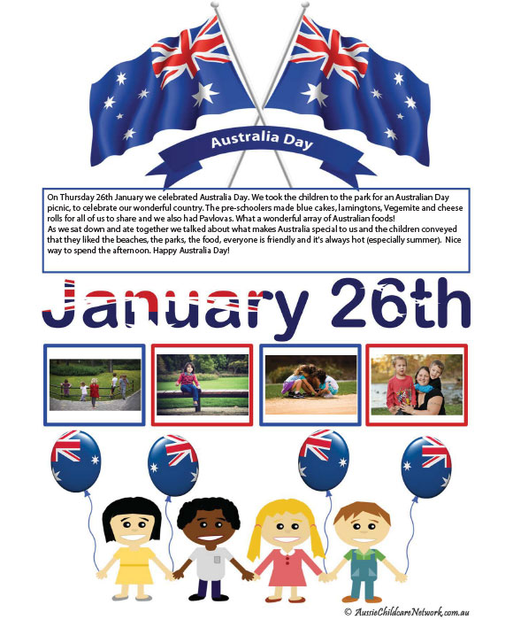 australia day flag template child portfolio aussie childcare network