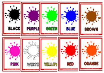 photograph about Colors Flashcards Printable called Shades Flashcards - Aussie Childcare Community