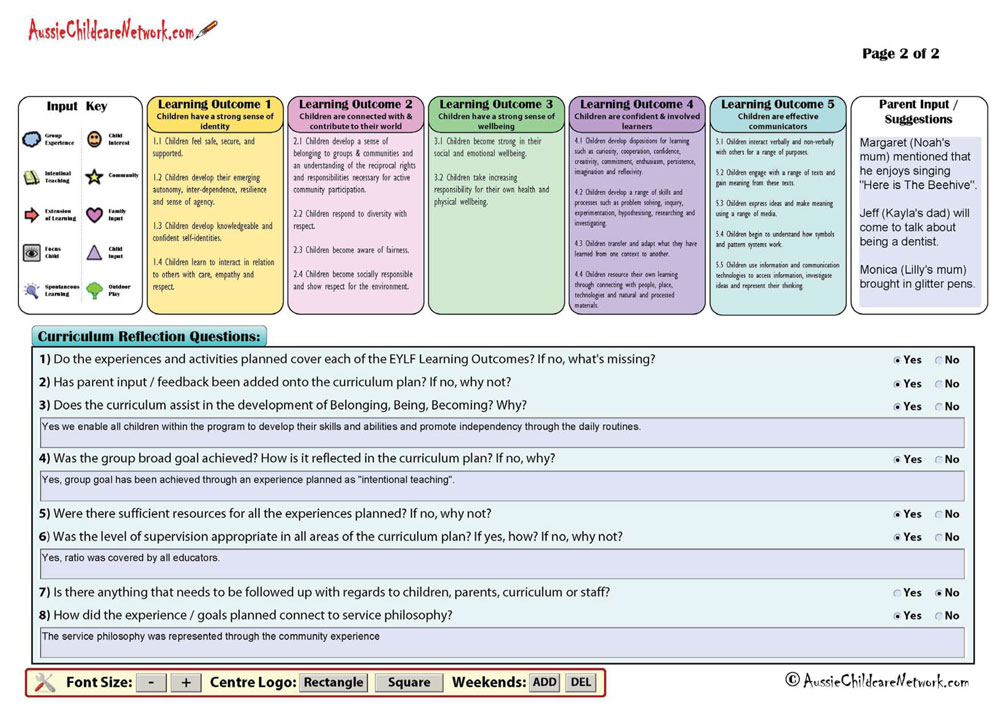 Program plan template for child care gallery template for Program plan template for child care