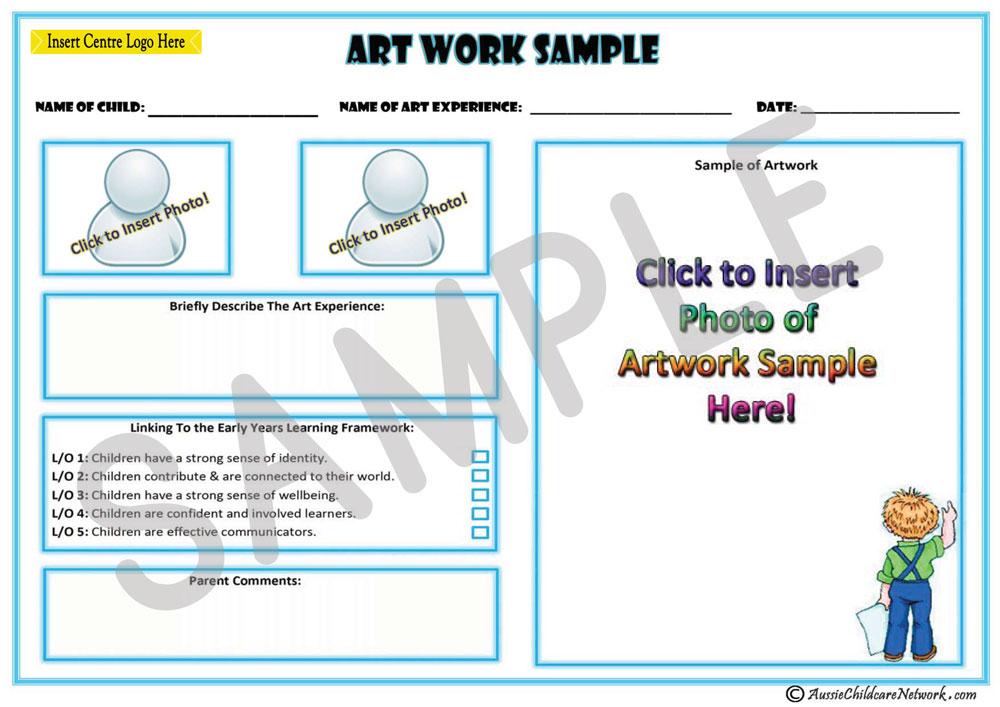 art work sample aussie childcare network