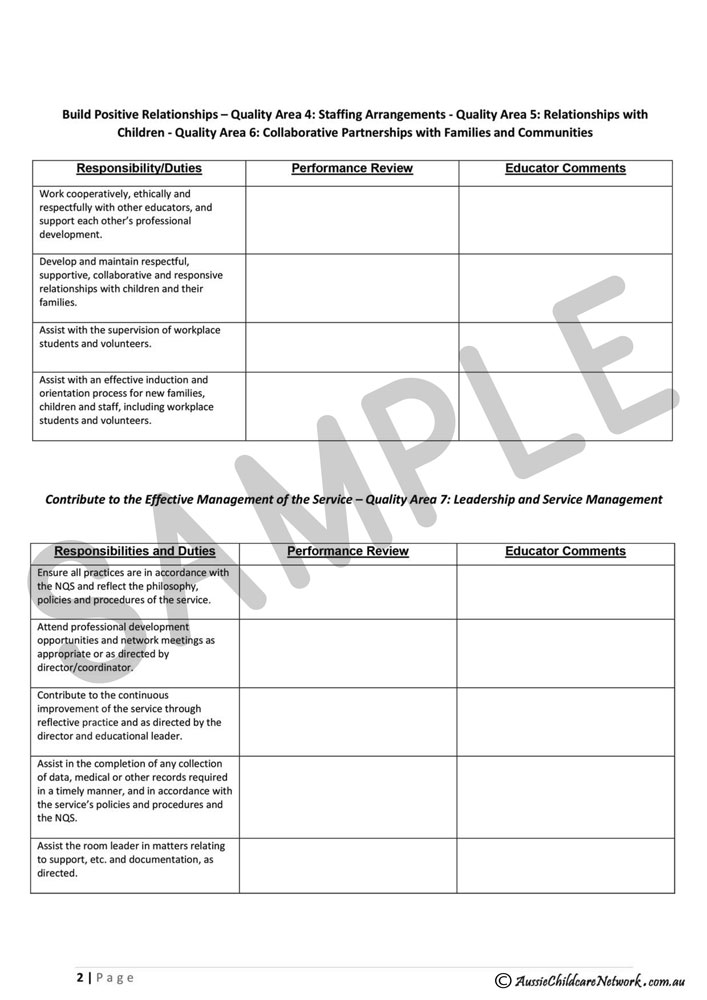 Staff_Appraisal_For_istant_Educator-2 Job Appraisal Forms on simple performance, printable auto, printable vehicle, employee performance, sample staff, vehicle trade,