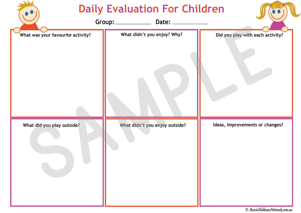 Daily Evaluation For Children  Aussie Childcare Network