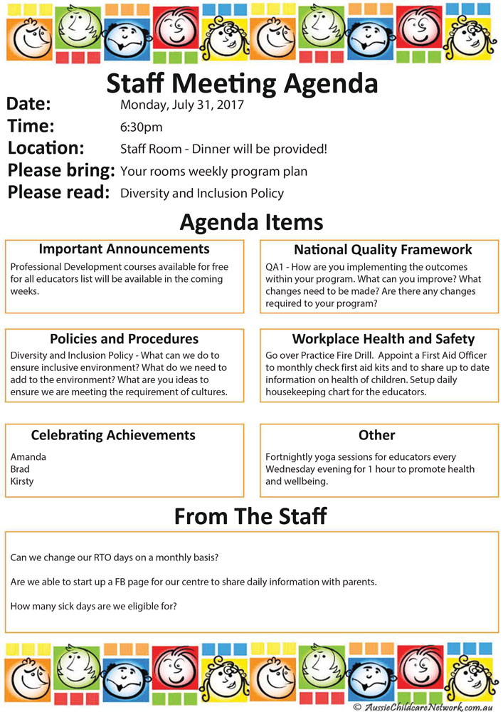Staff Meeting. Click To Enlarge Image Staff_Meeting_Agenda; Click To  Enlarge Image Staff_Meeting_Agenda_SAMPLE ...
