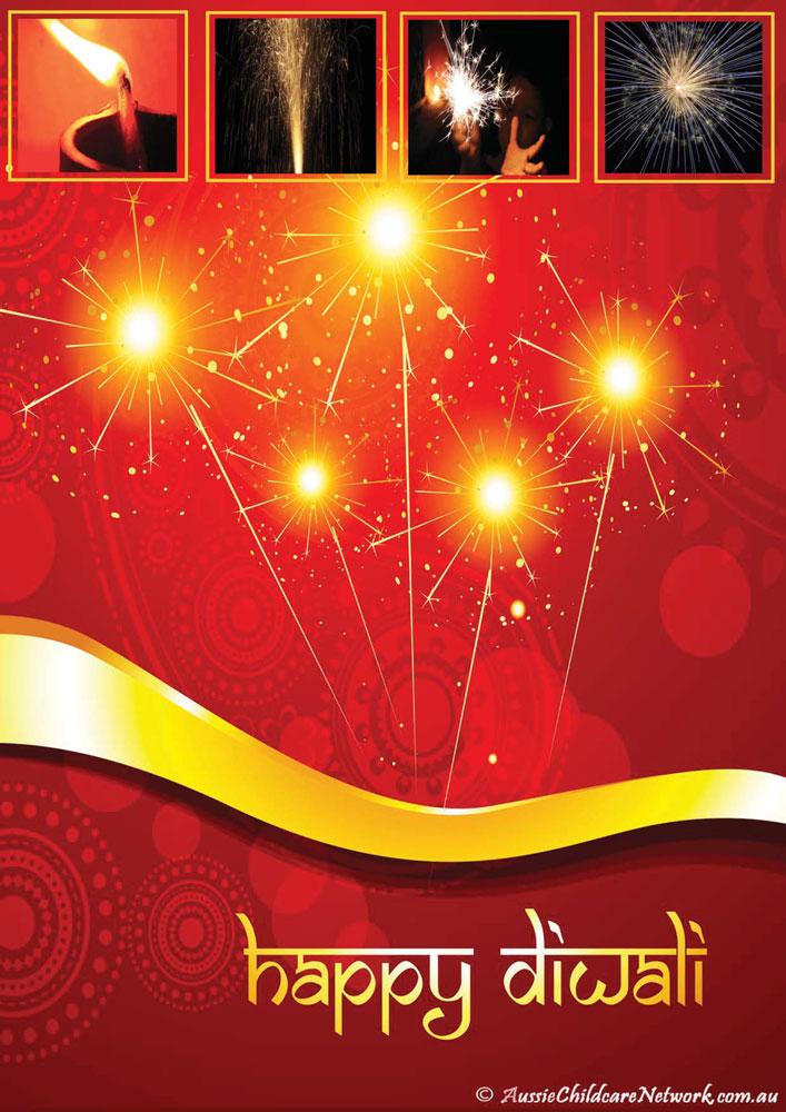 diwali fireworks portfolio template