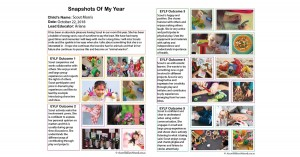 Snapshots Of My Year Report Template