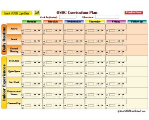 OOSH Curriculum Plan