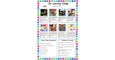 Our Learning Collage Template