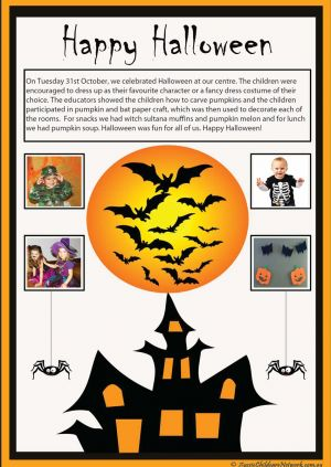 Halloween Learning Story Template
