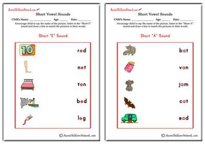 Number Names Worksheets short i sound worksheets : Short Vowels Worksheets - Aussie Childcare Network