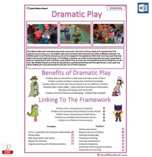 Dramatic Play - Interest Area Template