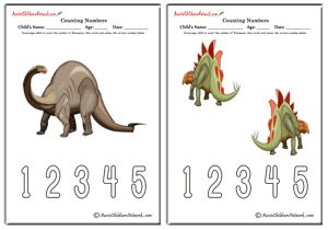 Counting Numbers - Dinosaurs Theme