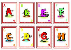 Alphabet Flashcards - Uppercase Cartoon Letter