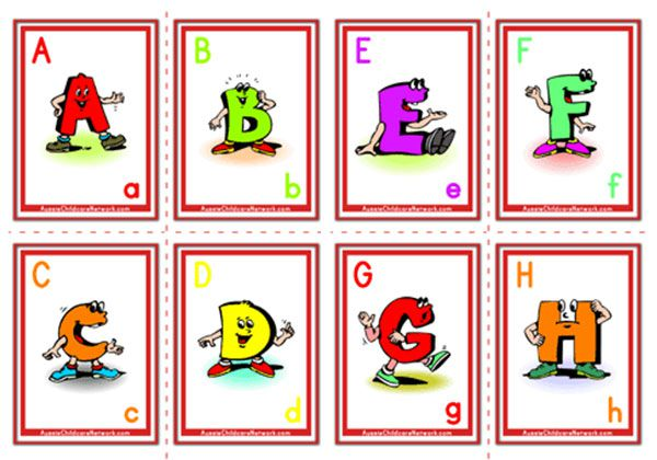 Alphabet Flashcards - Uppercase Cartoon Letter - Aussie ...