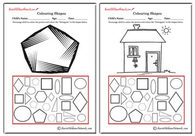 Shapes Worksheets - Aussie Childcare Network