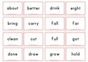 Dolch Flashcards - Third Grade Sight Words