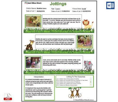 Jottings Observation Template