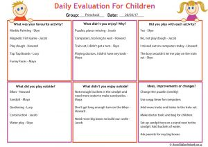 Child Evaluation Template