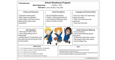School Readiness Preschool Program Template
