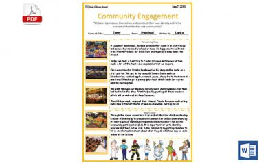 Community Learning Story Template