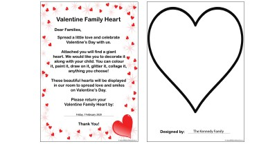 Valentine Family Heart Template