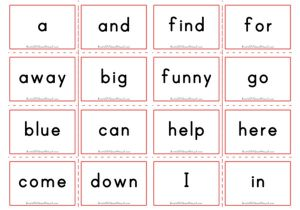 photograph regarding Printable Sight Word Flashcards With Pictures identify Sight Words and phrases Flashcards - Aussie Childcare Community