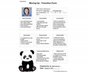 Moving Up - Transition Form