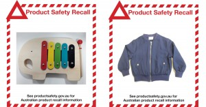 Product Safety Recall - Wooden Xylophone and Big W Girls Bomber Jacket