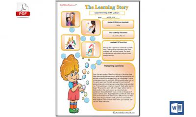 Learning Story Bubbles Template now available in MS Word Format