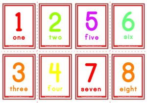 Number Flashcards - Classic Numbers