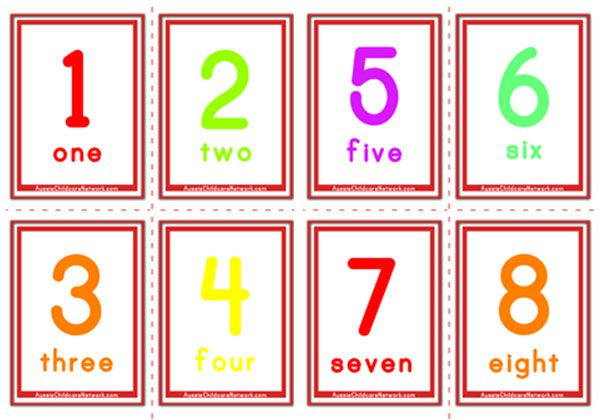 Challenger image in free printable number cards 1-20
