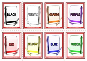Colour Words Flashcards - Notepad