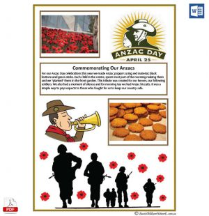 ANZAC Day Template and 25% Discount