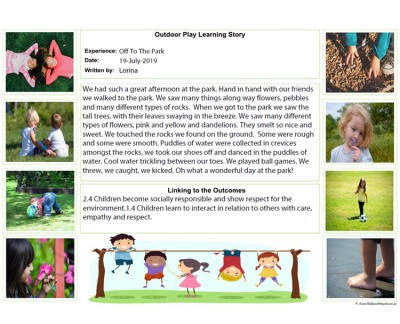Outdoor Play Learning Story