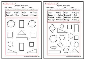 Colour Shapes using the Colours Guide