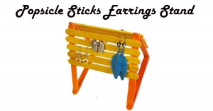 Popsicle Sticks Earrings Stand