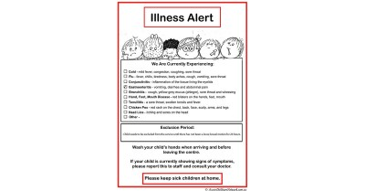 Illness Alert Template
