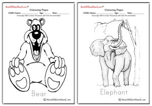 Wild Animals Colouring Pages
