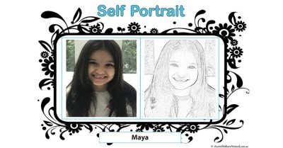 Self Portrait Portfolio Template
