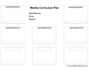 Weekly Curriculum Plan