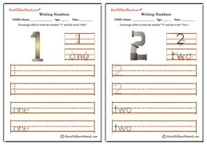 Writing Numbers - Hardware Theme