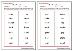 Circle Words with Short Vowel Sounds