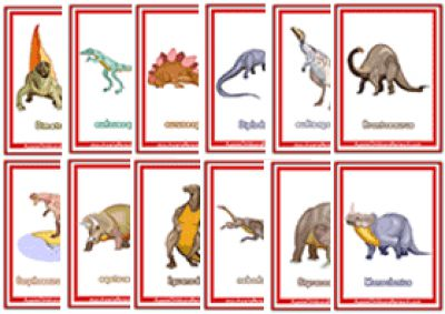 Dinosaurs Flashcards Released